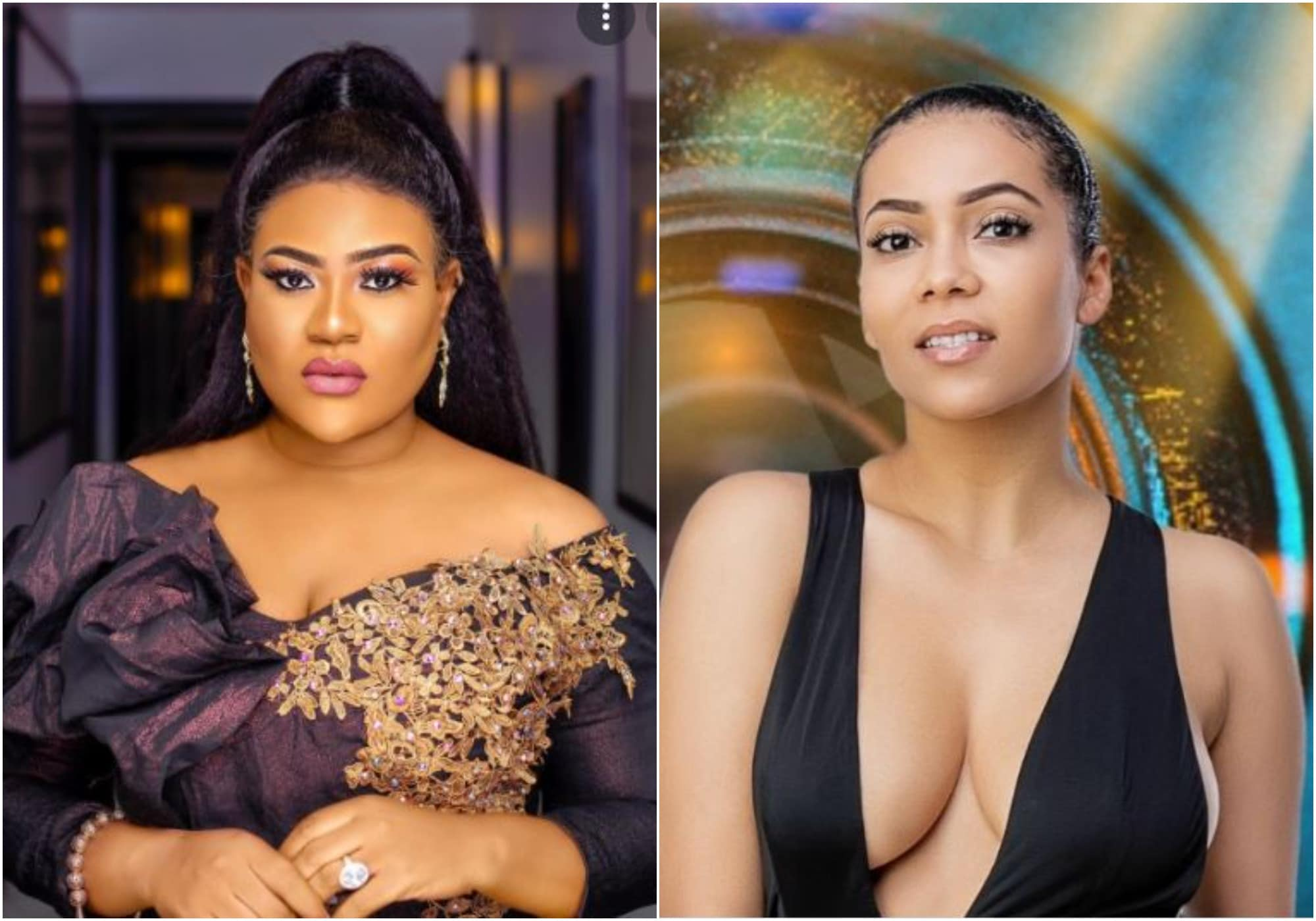 Nkechi Blessing reacts to Maria's eviction