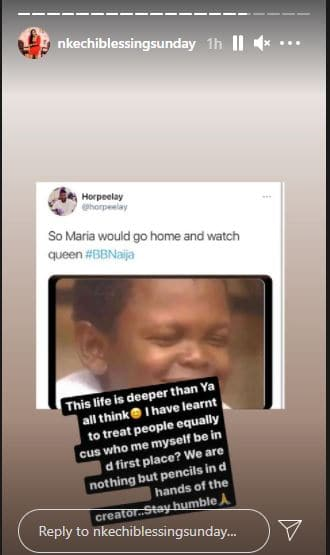 Nkechi reacts to Maria's shocking eviction