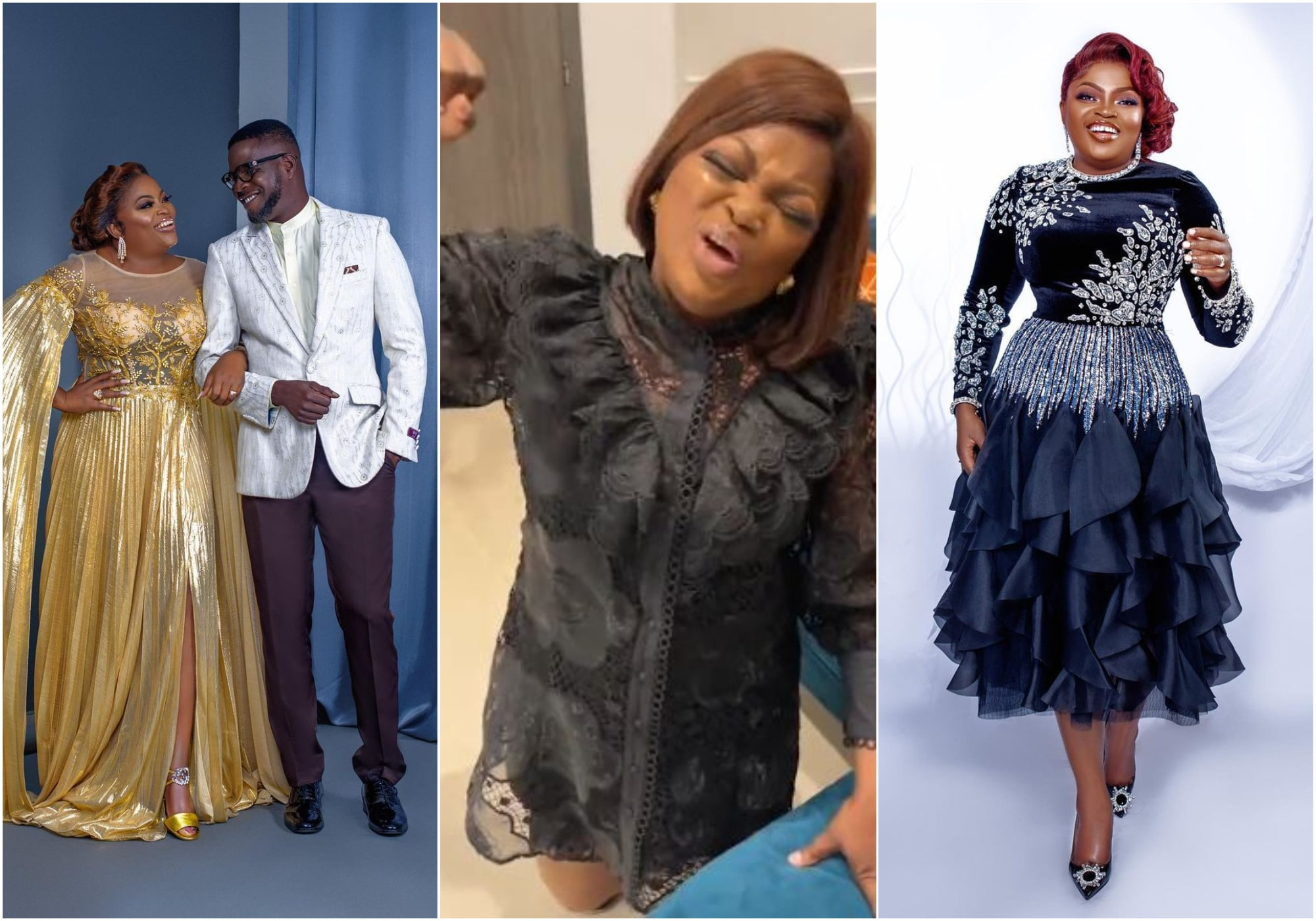 Funke Akindele is a lucky woman as she receives love and cheers from fans and followers who shut down the internet for her sake.