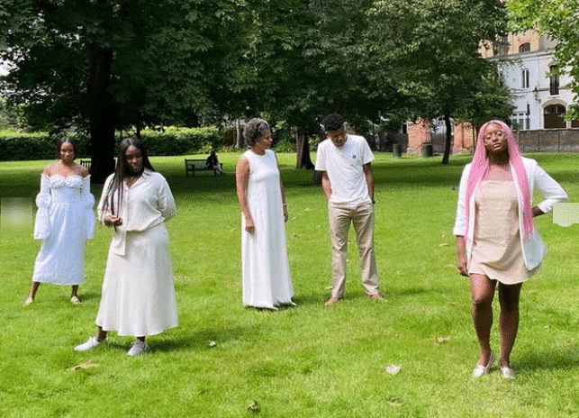 Nigerians react to new photos of DJ Cuppy Otedola and her family