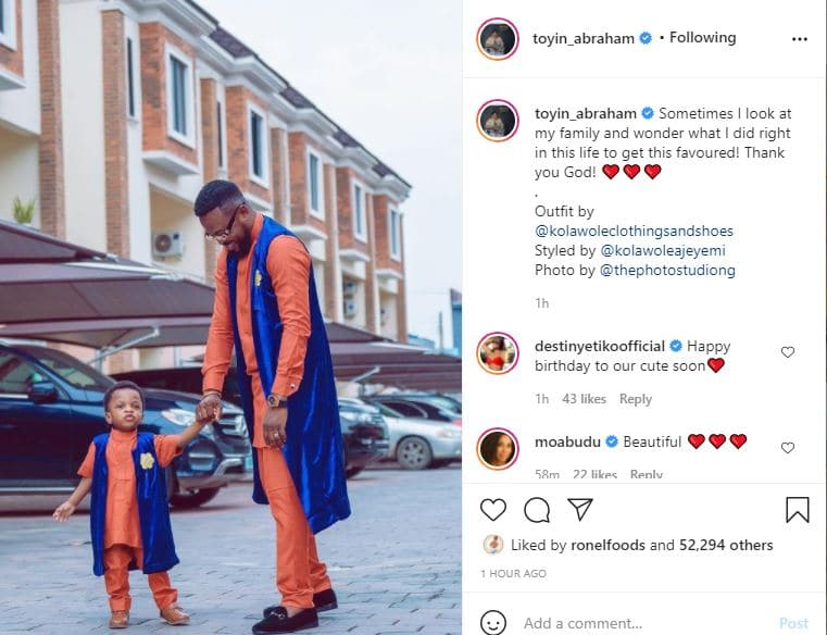 'Sometimes I look at my family and wonder what I did right in this life' Actress Toyin Abraham