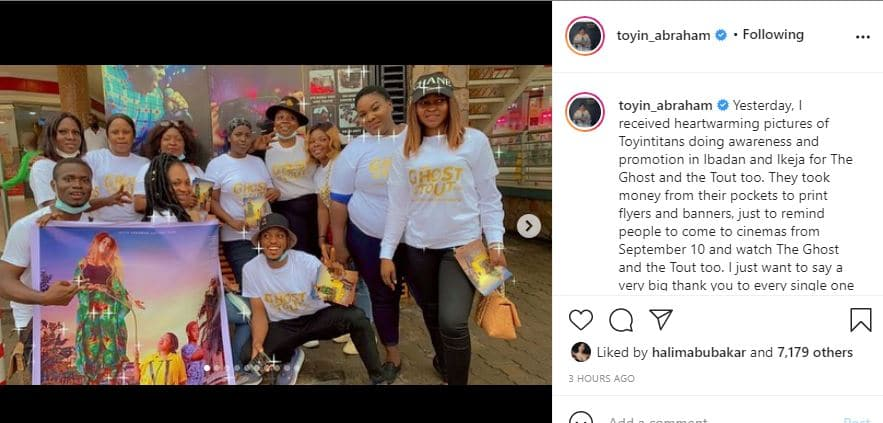 Toyin fans surprise her