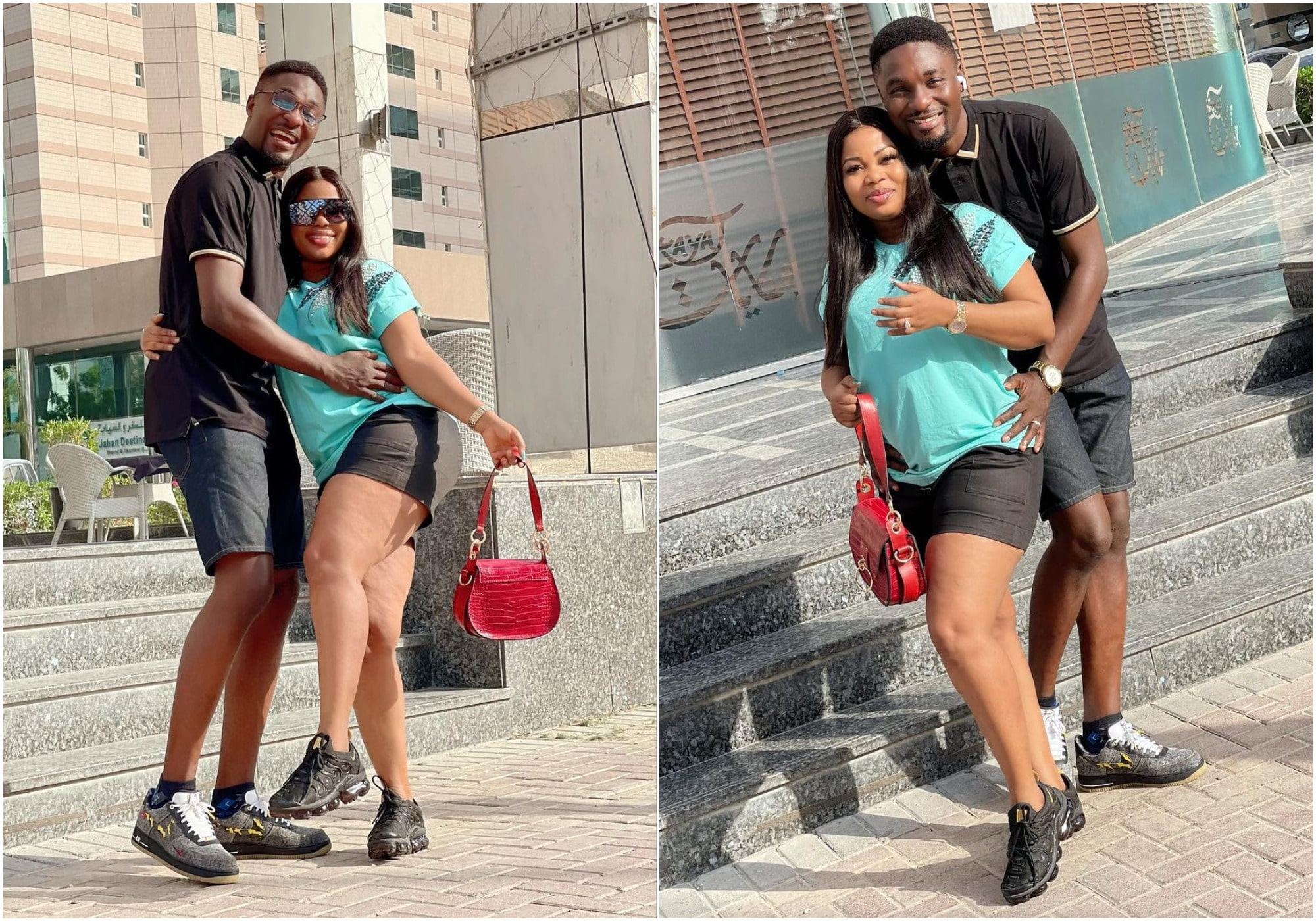 Adeniyi Johnson, shares romantic pictures with wife, Seyi Edun