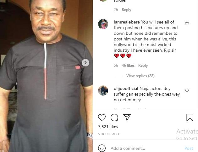 Nigerians blast colleagues as Nollywood actor, Rich Oganiru dies