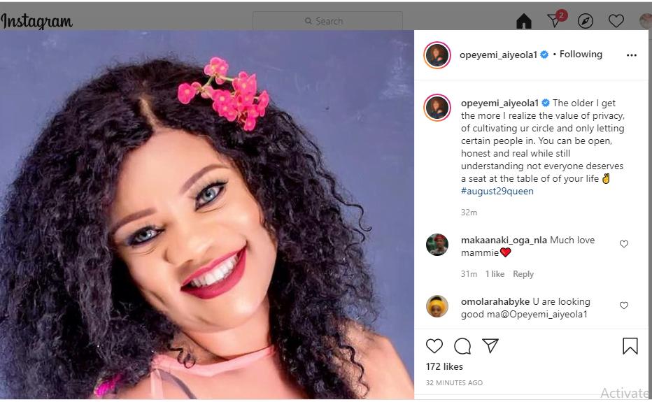 Actress Opeyemi Aiyeola