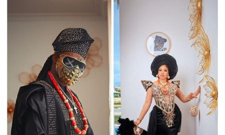 Toyin Lawani Tensions Instagram with faceless husband