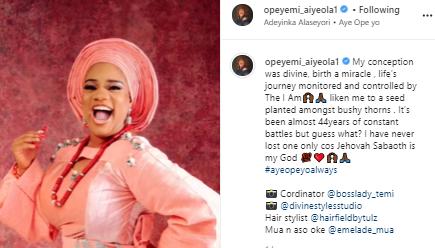 Opeyemi Aiyeola marks birthday