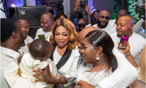 sinach at mercy johnson party