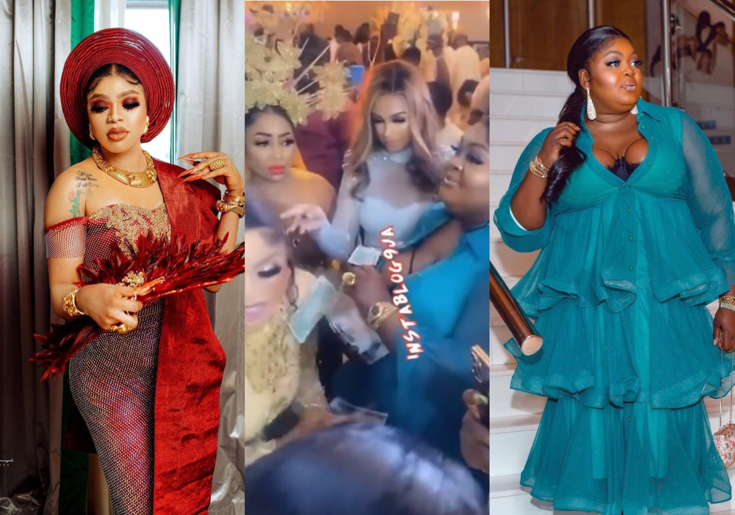 Actress Eniola Badmus shuts down Bobrisky's 30th birthday party