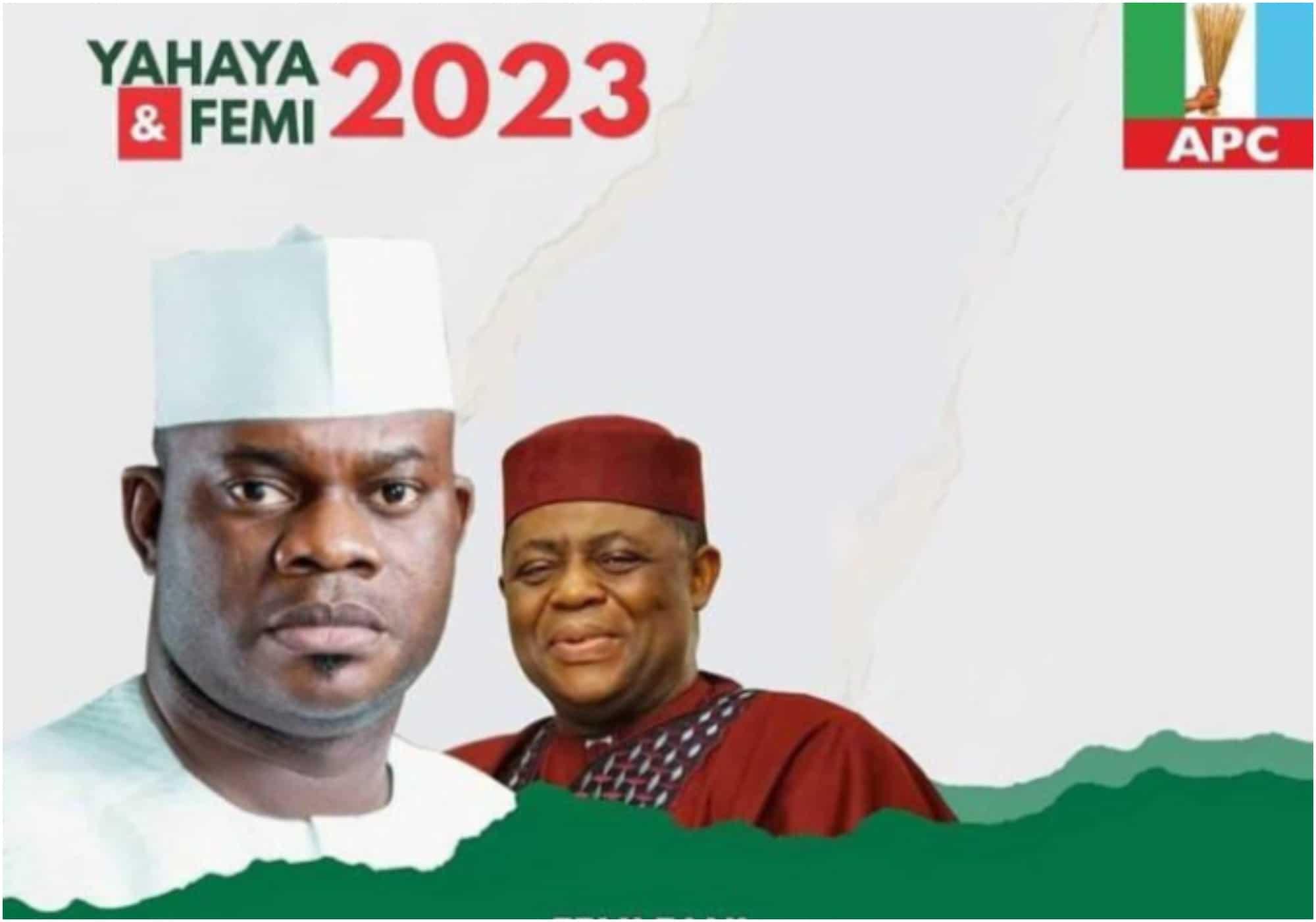 Yahaya Bello, Fani Kayode Presidential campaign posters