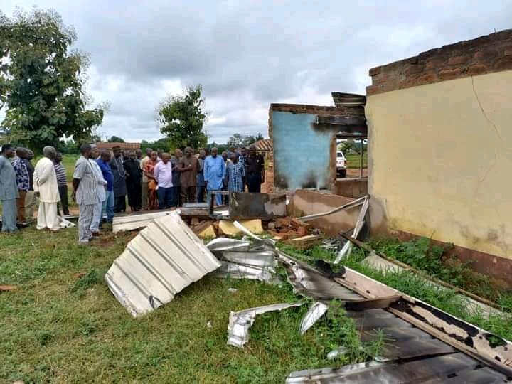 Angry students burn down school waec benue