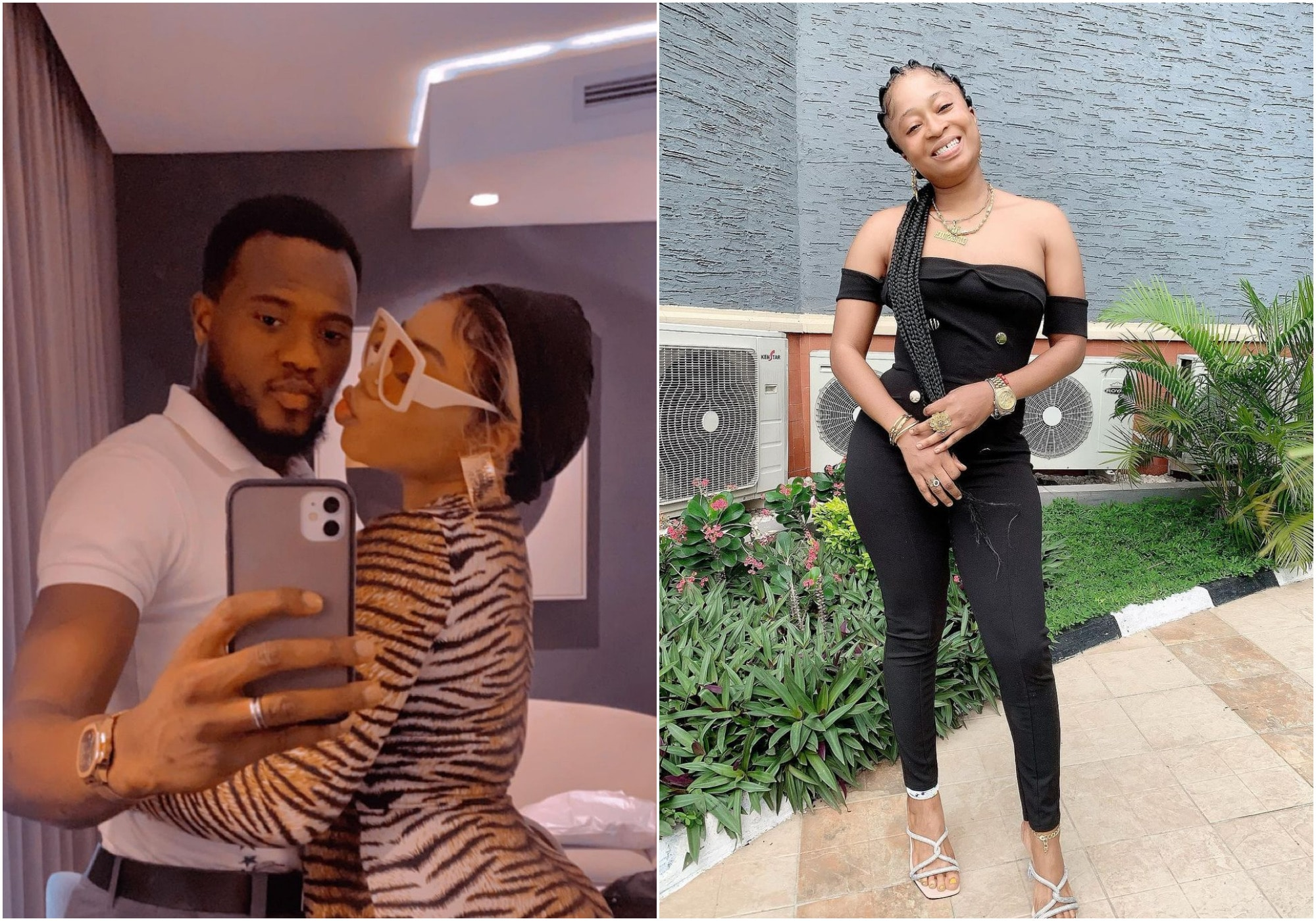 Mustapha Sholagbade peppers baby mama as he celebrates his wife