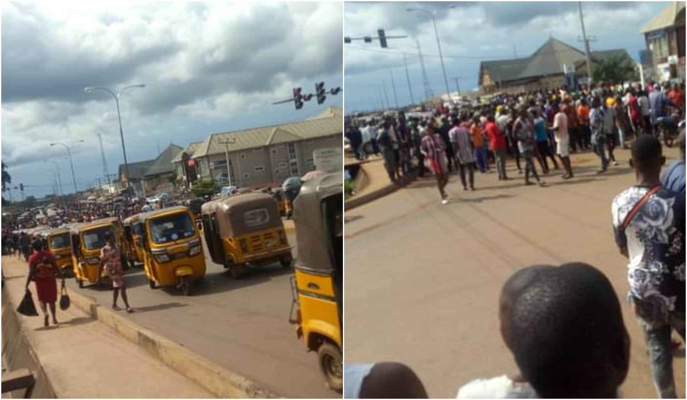 Keke Tax Force men beat a man Enugu