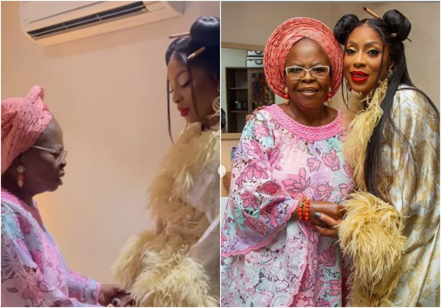 MO Abudu and mother