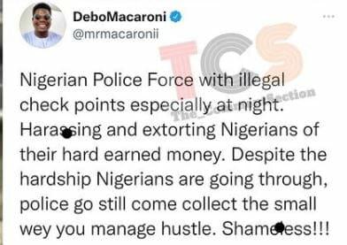 MR Macaroni on Police