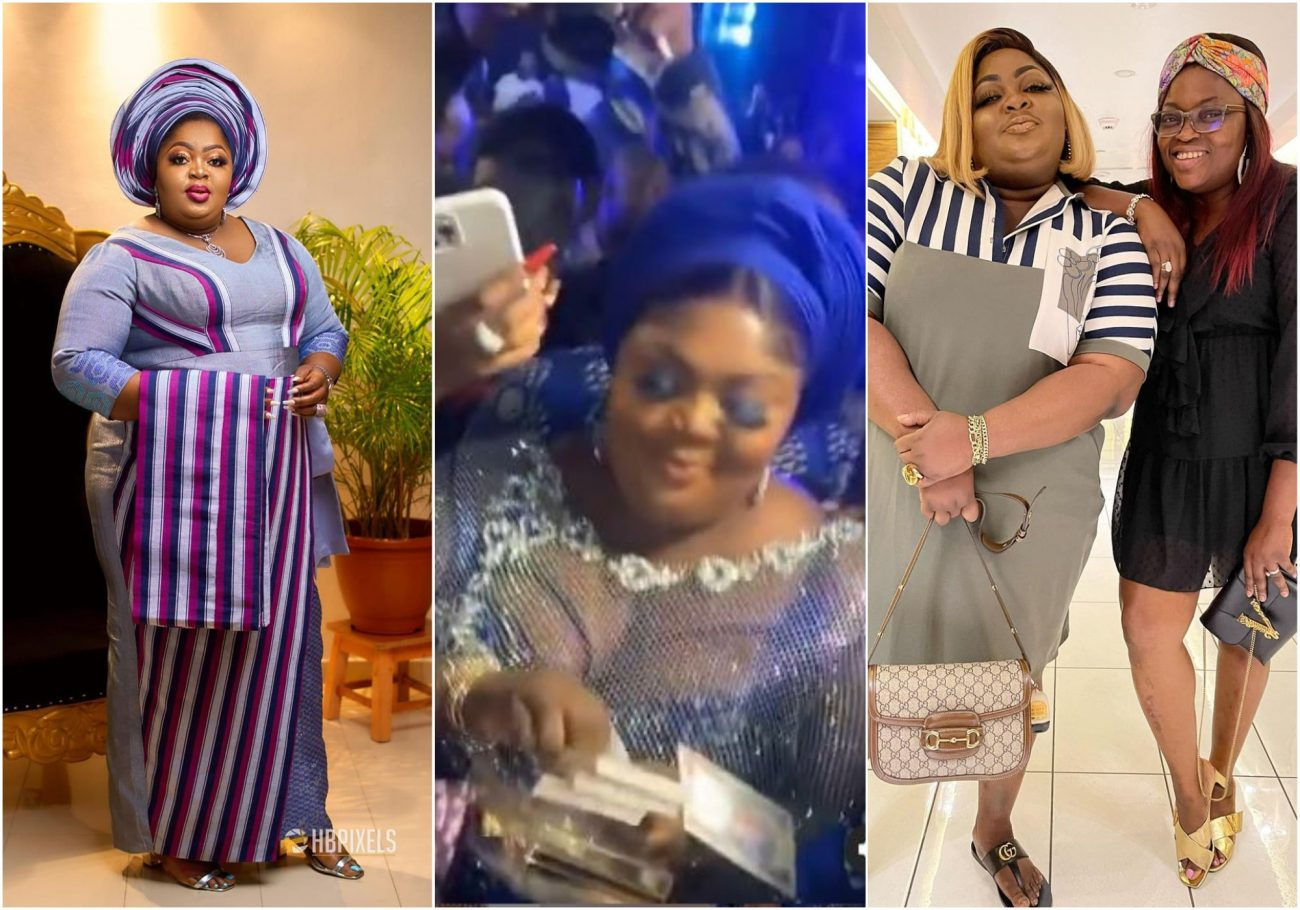 Fans warn Eniola Badmus as Funke Akindele gifts her 5 million naira