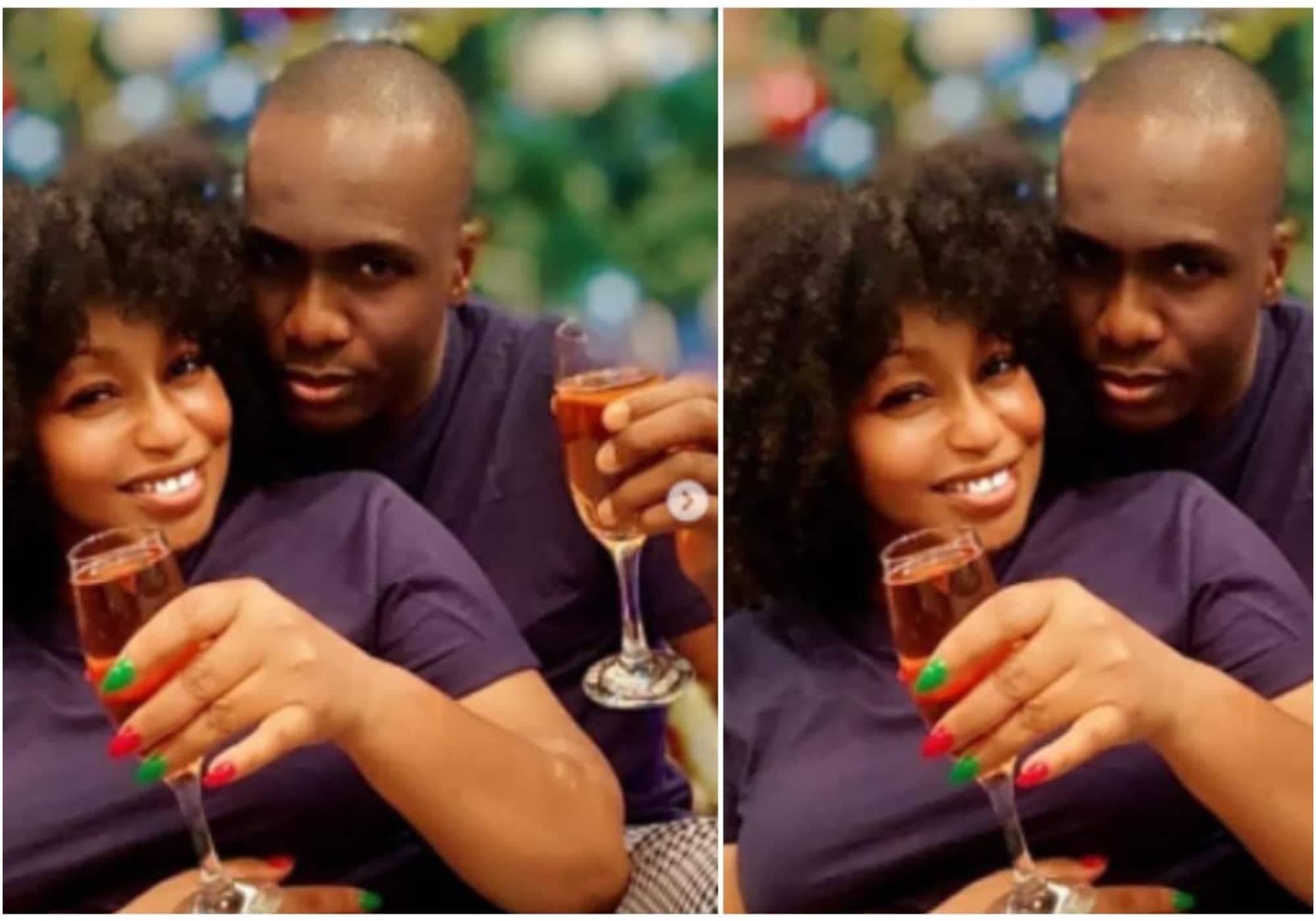 Rita Domic and Fidelis Anosike at Mo Abudu's birthday