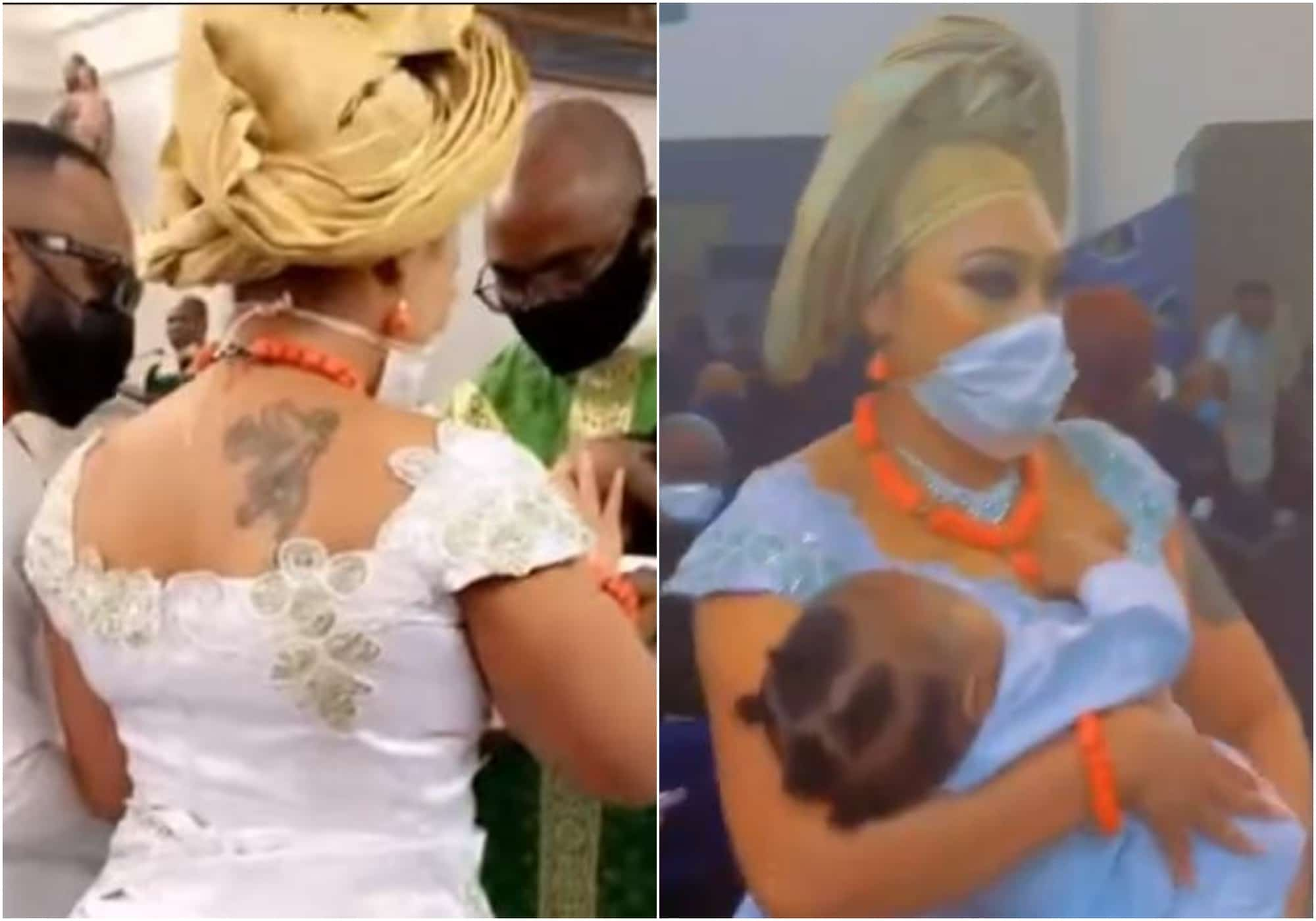 Rosy Meurer and husband dedicates their baby