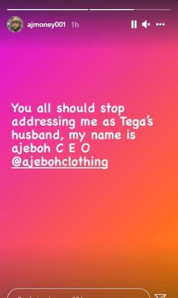 Tega's husband