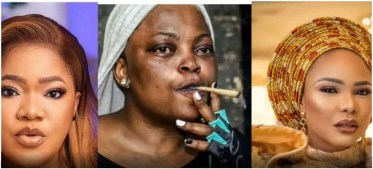 Toyin Abraham reacts as Iyabo Ojo drags Funke and Eniola Badmus