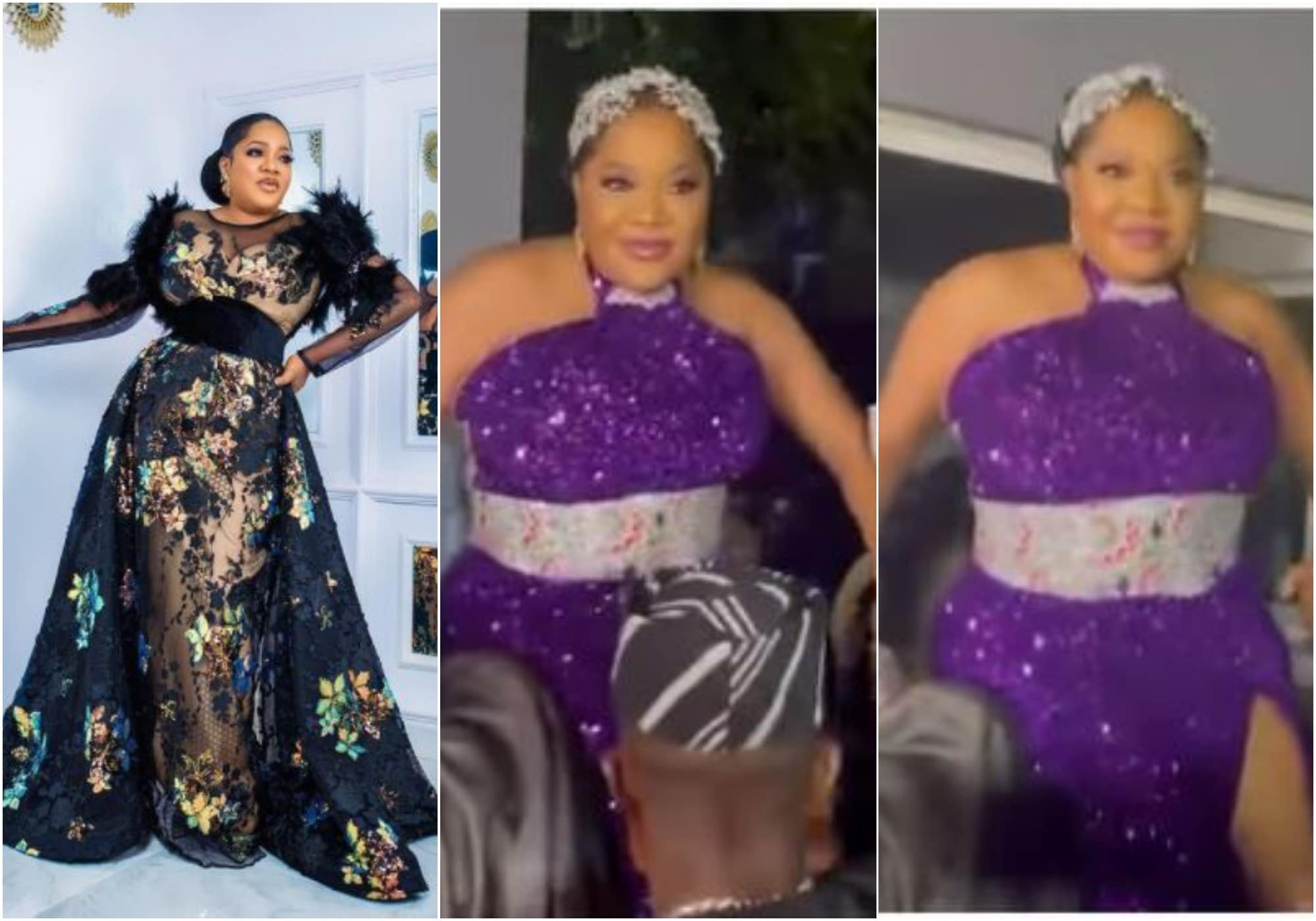 Toyin grand entry to movie premiere