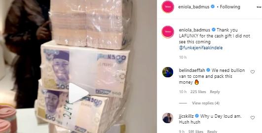 Eniola Badmus in trouble with JJC Skillz over N5million birthday gift from Funke Akindele..