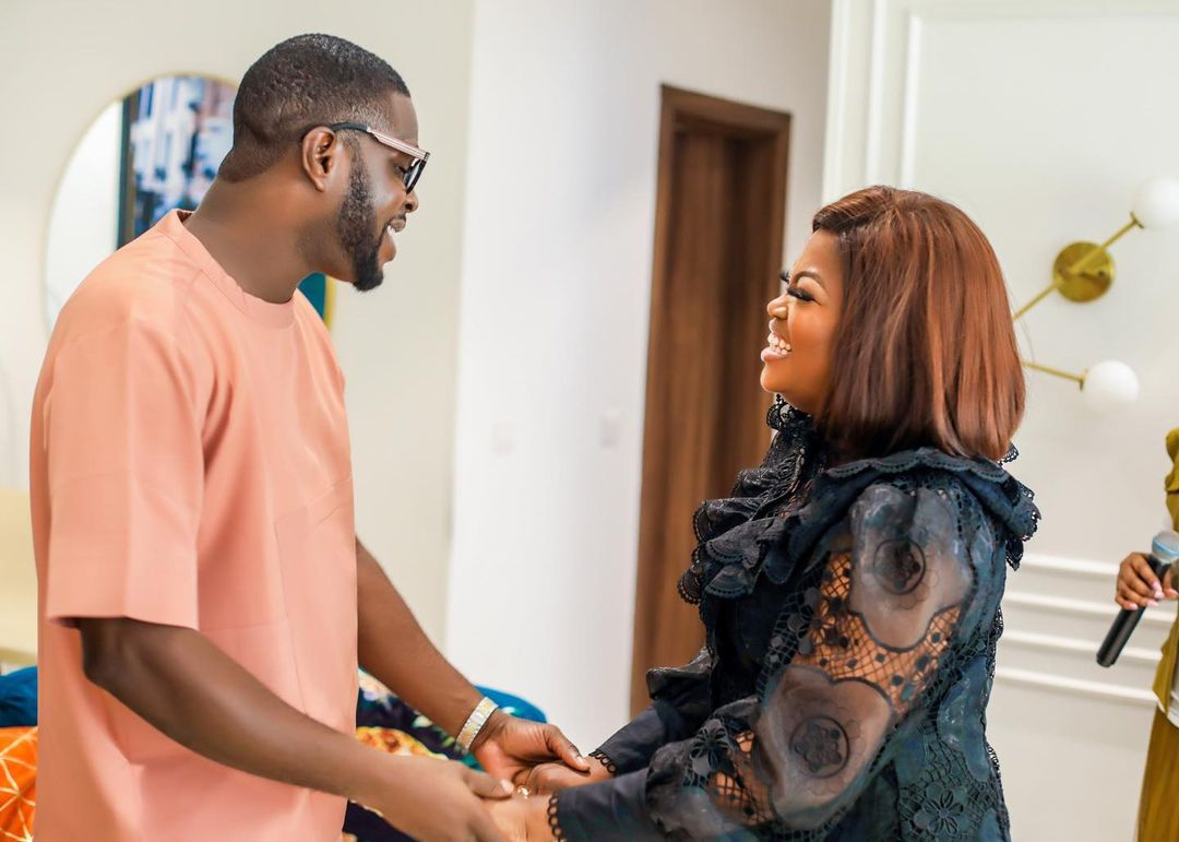 The joy in our hearts - Funke Akindele gets romantic with husband