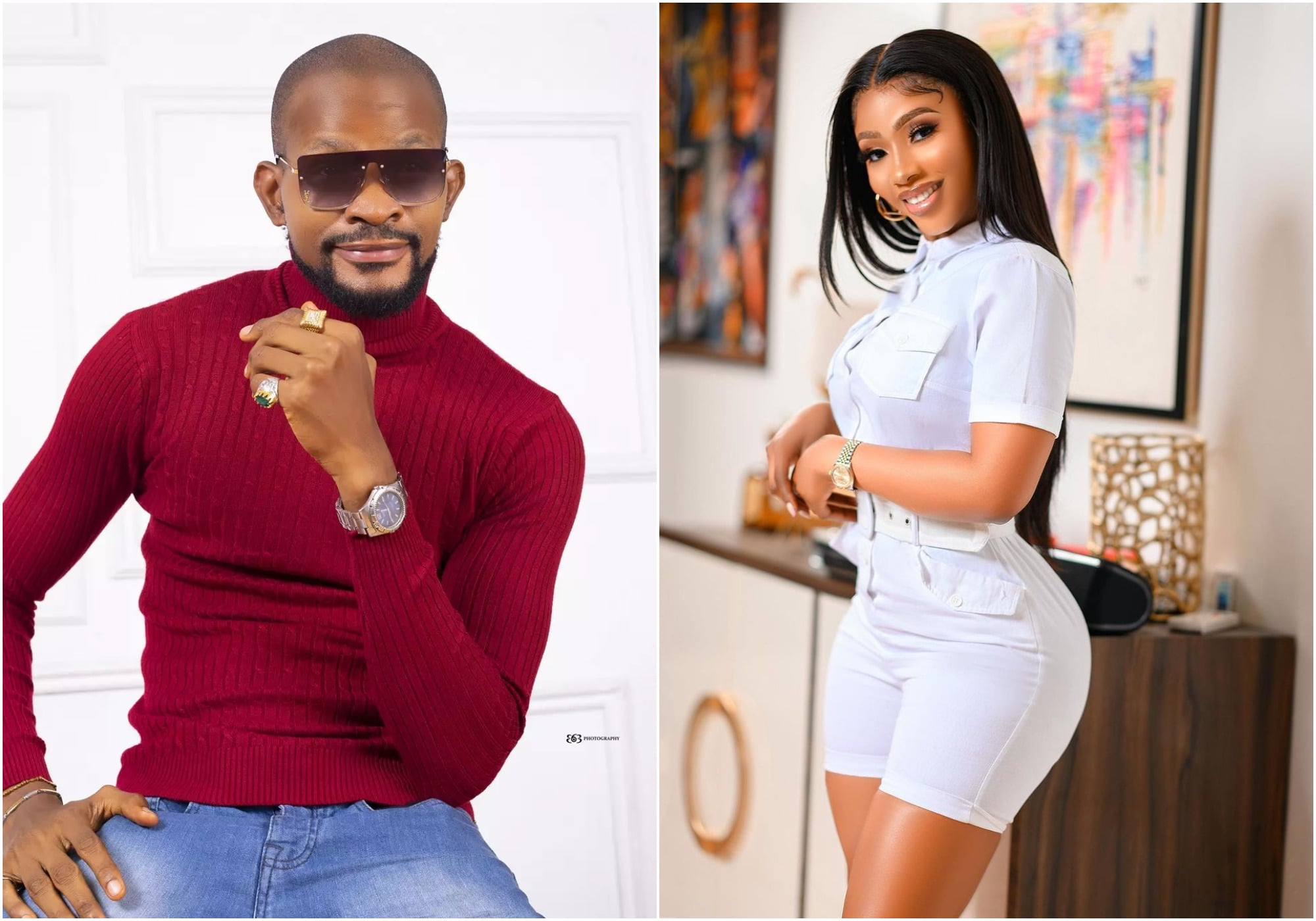fans support Uche Maduagwu as he drags Mercy Eke in the mud