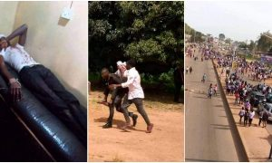 security operatives open fire on protesting Plateau Poly students