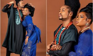 Nigerians react as Denrele Edun shares loved up pictures with Yemi Alade