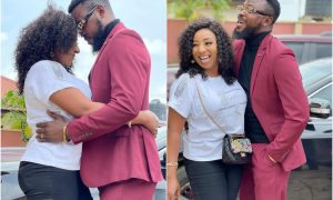 Nigerians react as Mide Martins reveals the face of her lover