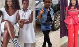 Mercy Johnson and daughter