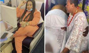Nkechi Blessing goes on vacation daysa after her mother's burial