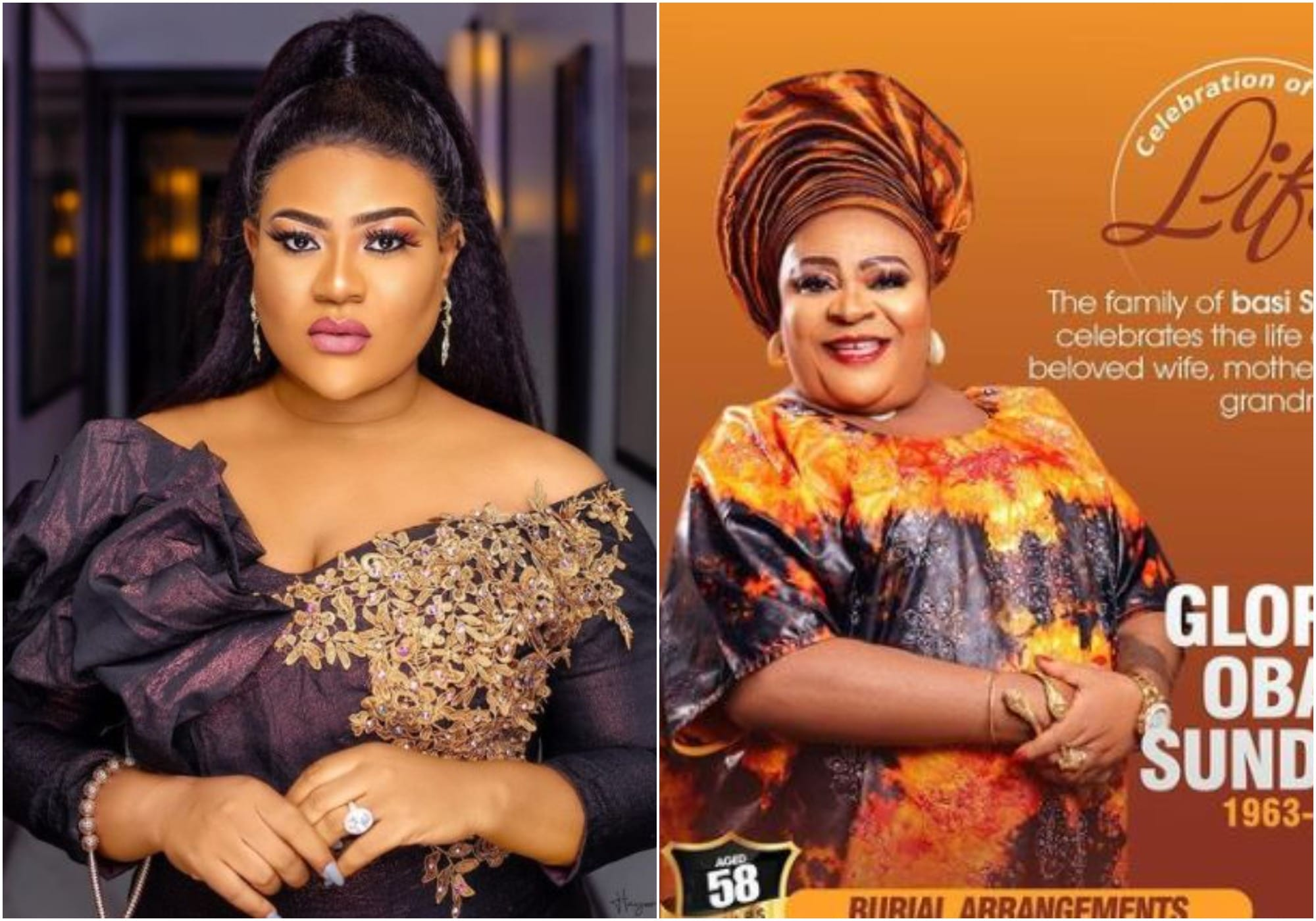 Nkechi Blessing's mother's burial