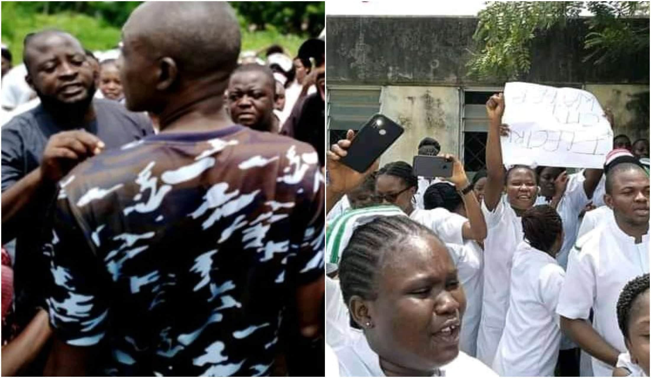 Nursing students block State Secretariat entrance in Benue