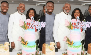 Olu Jacobs at wife's party