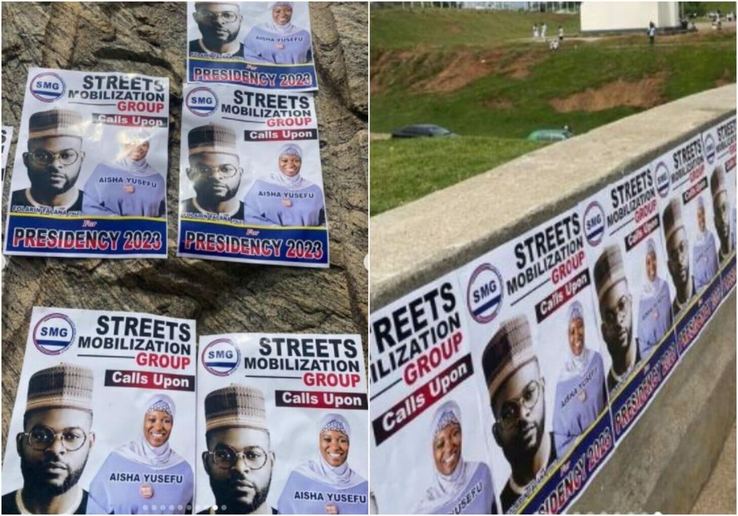 Rapper Falz presidential campaign posters