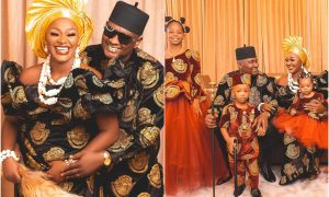 Nigerians express concern as Chacha Eke shares family pictures online