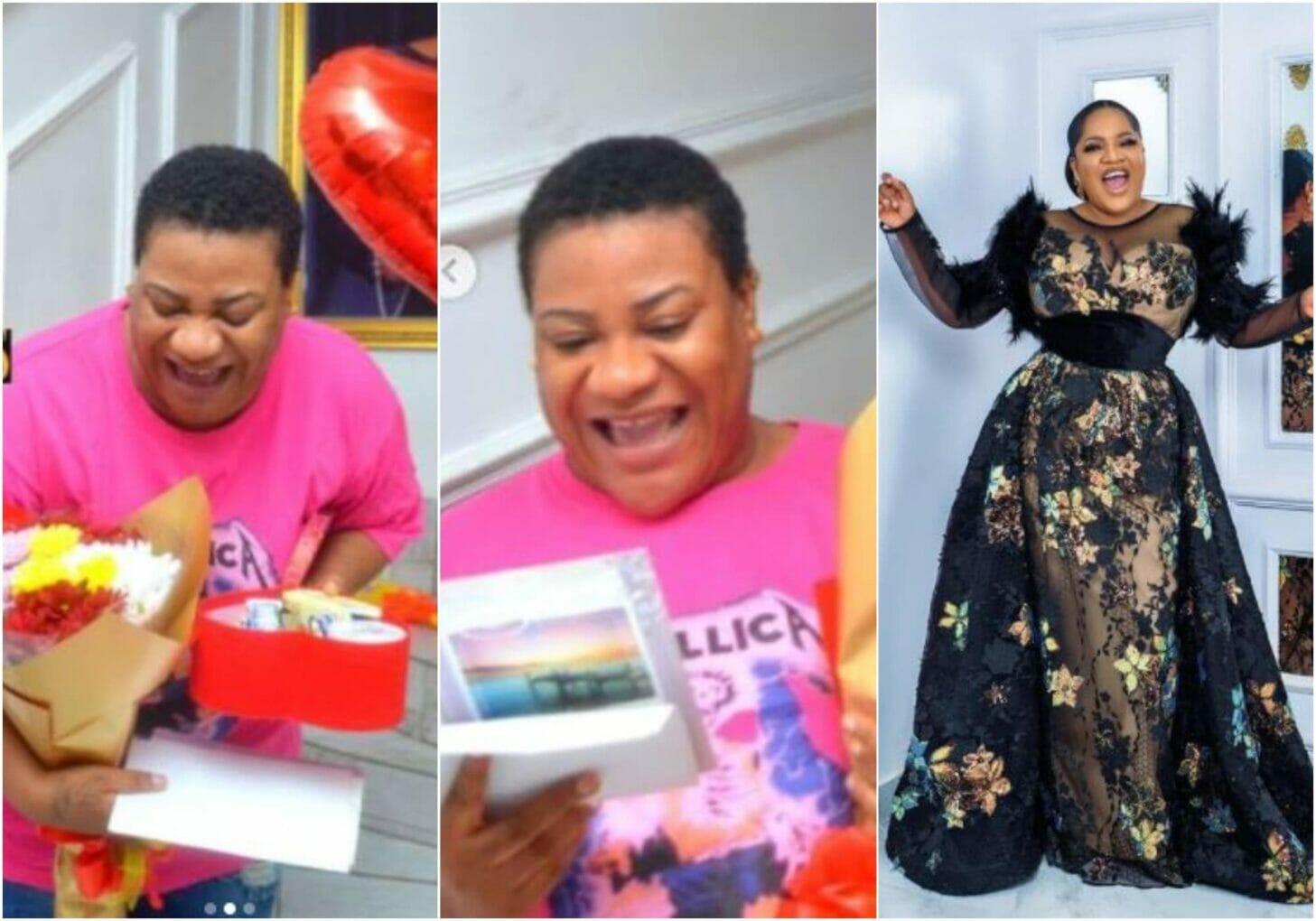 Toyin Abraham makes Nkechi's heart leap for joy