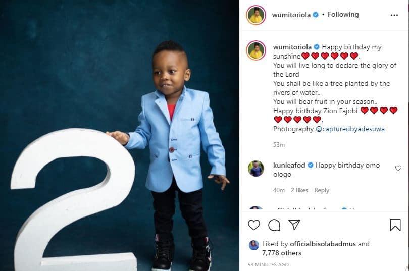 Wunmi Toriola celebrates son's birthday
