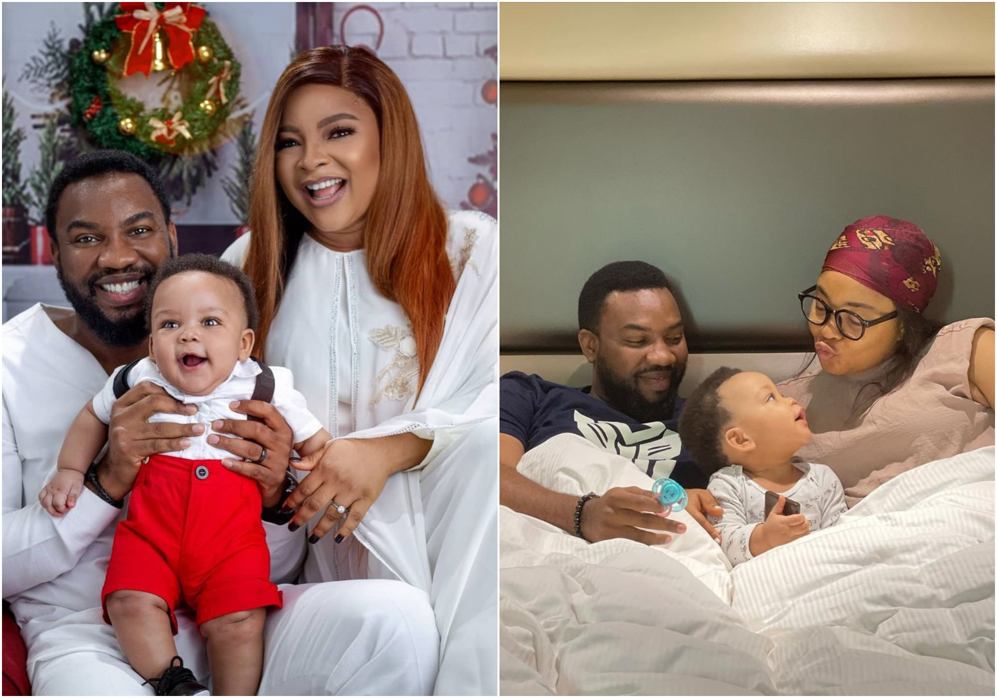 Nollywood actress, Linda Ejiofor's husband, gushes on her and her son